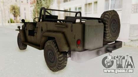 MGSV Jeep No LMG für GTA San Andreas zurück linke Ansicht