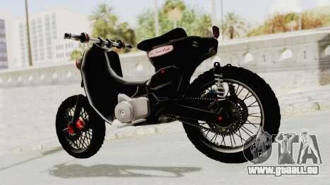 Honda Super Cub Modif Moge für GTA San Andreas zurück linke Ansicht