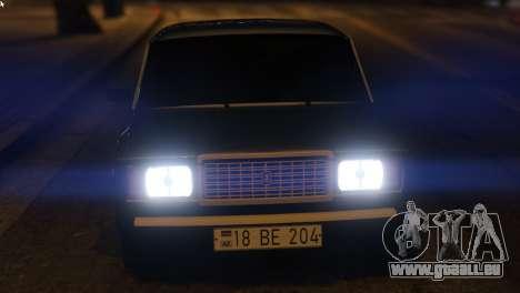 GTA 5 Bewaffnet Zu Predigen, Um Die Auto-2107 vorne rechts Seitenansicht