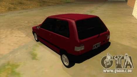 Fiat Uno S für GTA San Andreas zurück linke Ansicht