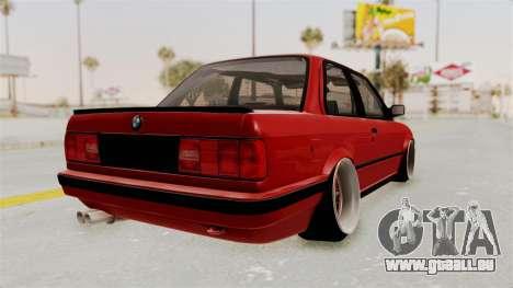 BMW M3 E30 Camber Low für GTA San Andreas rechten Ansicht
