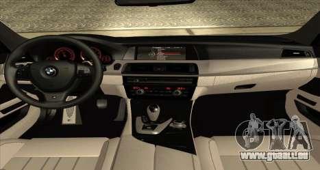 BMW M5 F10 2012 für GTA San Andreas zurück linke Ansicht