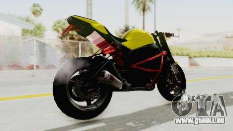 Kawasaki Ninja ZX-10R Nakedbike Stunter pour GTA San Andreas laissé vue