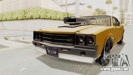 GTA 5 Declasse Sabre GT2 B IVF pour GTA San Andreas sur la vue arrière gauche