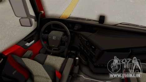 Volvo FM Euro 6 6x4 v1.0 für GTA San Andreas Innenansicht