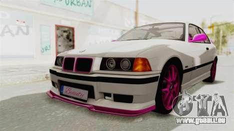 BMW M3 E36 Beauty pour GTA San Andreas sur la vue arrière gauche