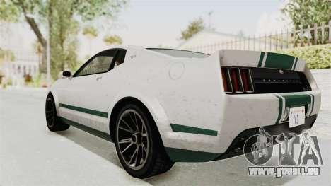 GTA 5 Vapid Dominator v2 SA Style pour GTA San Andreas laissé vue