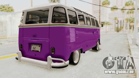 Volkswagen T1 Station Wagon De Luxe Type2 1963 pour GTA San Andreas sur la vue arrière gauche