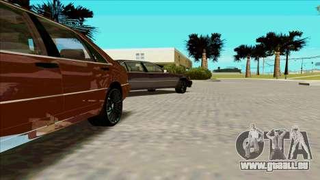 Mercedez-Benz W140 pour GTA San Andreas laissé vue