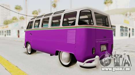 Volkswagen T1 Station Wagon De Luxe Type2 1963 pour GTA San Andreas laissé vue