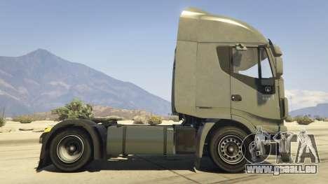 GTA 5 Iveco Stralis HI-WAY vue latérale gauche