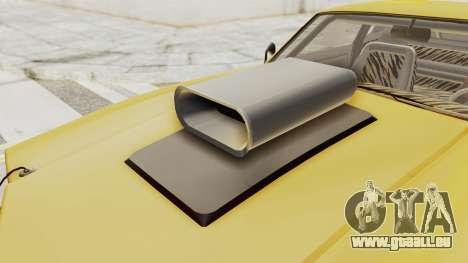 GTA 5 Declasse Sabre GT2 B IVF pour GTA San Andreas vue intérieure