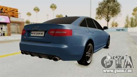 Audi RS6 pour GTA San Andreas sur la vue arrière gauche
