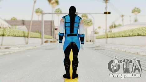Mortal Kombat X Klassic Sub Zero UMK3 v2 pour GTA San Andreas troisième écran