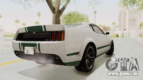 GTA 5 Vapid Dominator v2 SA Style pour GTA San Andreas sur la vue arrière gauche