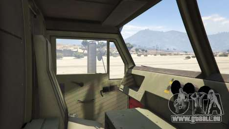 GTA 5 Heavy Expanded Mobility Tactical Truck hinten rechts