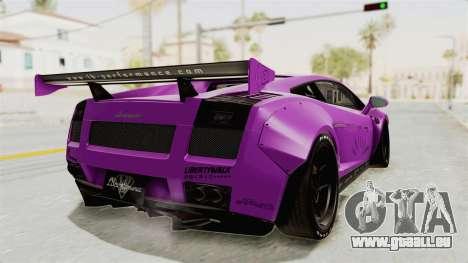 Lamborghini Gallardo 2015 Liberty Walk LB pour GTA San Andreas laissé vue