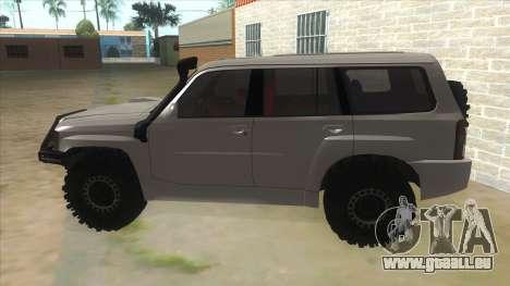 Nissan Patrol Y61 pour GTA San Andreas laissé vue