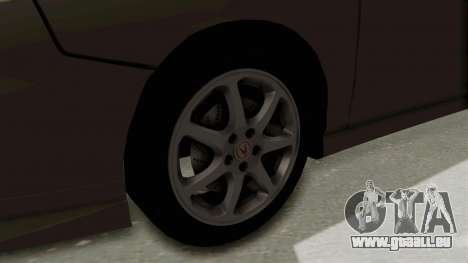 Acura Integra Fast N Furious pour GTA San Andreas vue arrière