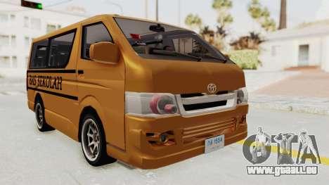 Toyota Hiace School Bus pour GTA San Andreas