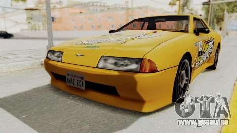 Dewbauchee Elegy pour GTA San Andreas sur la vue arrière gauche