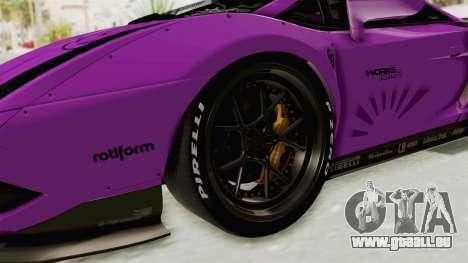 Lamborghini Gallardo 2015 Liberty Walk LB pour GTA San Andreas vue arrière