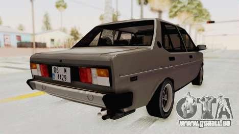 Fiat 131 Supermirafiori pour GTA San Andreas laissé vue