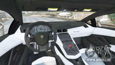 GTA 5 Lamborghini Aventador LP700-4 2012 v1.2 arrière droit vue de côté