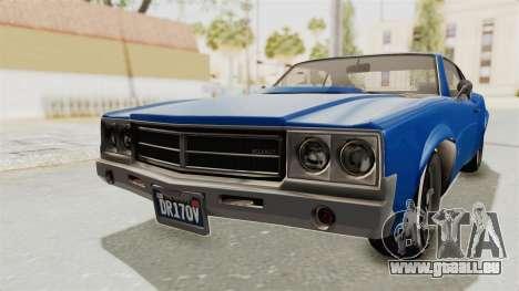 GTA 5 Declasse Sabre GT2 A pour GTA San Andreas sur la vue arrière gauche