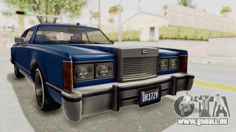 GTA 5 Dundreary Virgo Classic Custom v1 IVF pour GTA San Andreas vue de droite