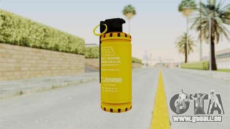 Tear Gas Gold pour GTA San Andreas deuxième écran
