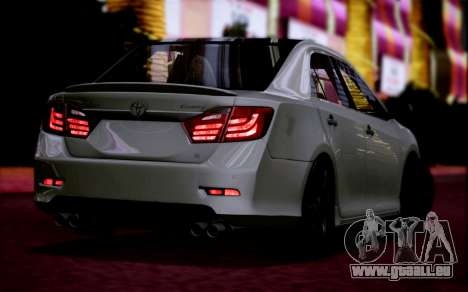 Toyota Camry V6 Sprot Edition pour GTA San Andreas laissé vue