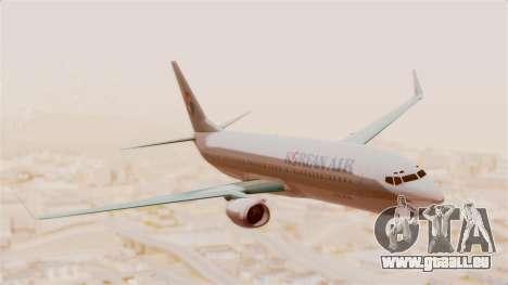 Boeing 737-800 Korean Air pour GTA San Andreas sur la vue arrière gauche