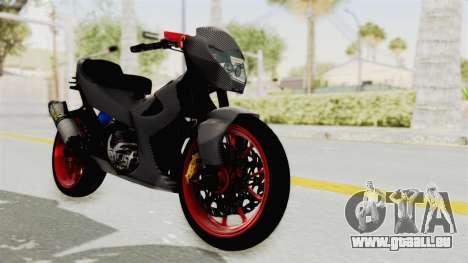 Satria FU 150 Modif FU 250 Superbike für GTA San Andreas rechten Ansicht