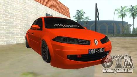 Renault Megane II Special TR pour GTA San Andreas vue arrière