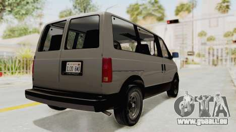 Chevrolet Astro 1988 pour GTA San Andreas sur la vue arrière gauche