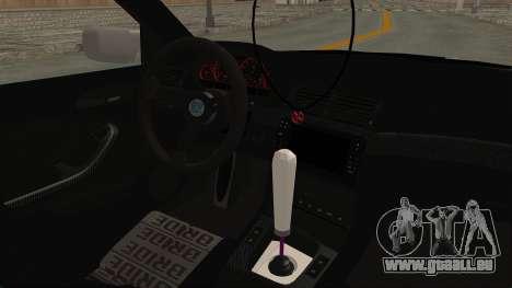BMW 3 Series E46 pour GTA San Andreas vue intérieure
