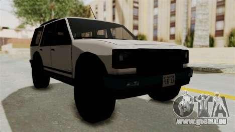 Dundreary Landstalker 1992 pour GTA San Andreas vue de droite