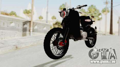 Honda Super Cub Modif Moge pour GTA San Andreas vue de droite