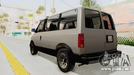 Chevrolet Astro 1988 pour GTA San Andreas laissé vue