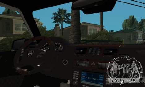 Mercedes G55 Kompressor für GTA San Andreas Innen