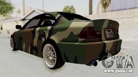 BMW 3 Series E46 pour GTA San Andreas vue de droite