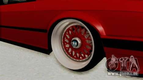 BMW M3 E30 Camber Low für GTA San Andreas Rückansicht