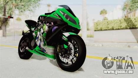 Kawasaki Ninja 250FI Kochiya Sanae Itasha pour GTA San Andreas vue de droite