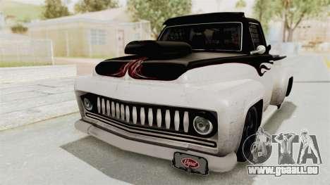GTA 5 Slamvan Race PJ1 für GTA San Andreas zurück linke Ansicht