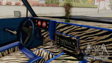 GTA 5 Dundreary Virgo Classic Custom v1 IVF pour GTA San Andreas vue intérieure