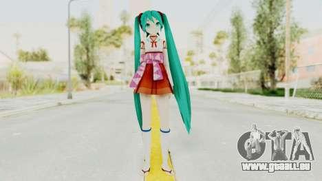 Project Diva F2nd - Hatsune Miku (Shrine Maiden) pour GTA San Andreas deuxième écran