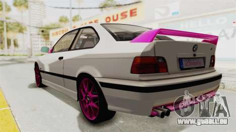 BMW M3 E36 Beauty pour GTA San Andreas laissé vue