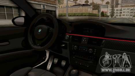 BMW M3 E92 Liberty Walk LB Performance für GTA San Andreas Innenansicht