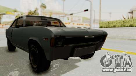 Chevrolet Nova 1969 StreetStyle pour GTA San Andreas vue de droite
